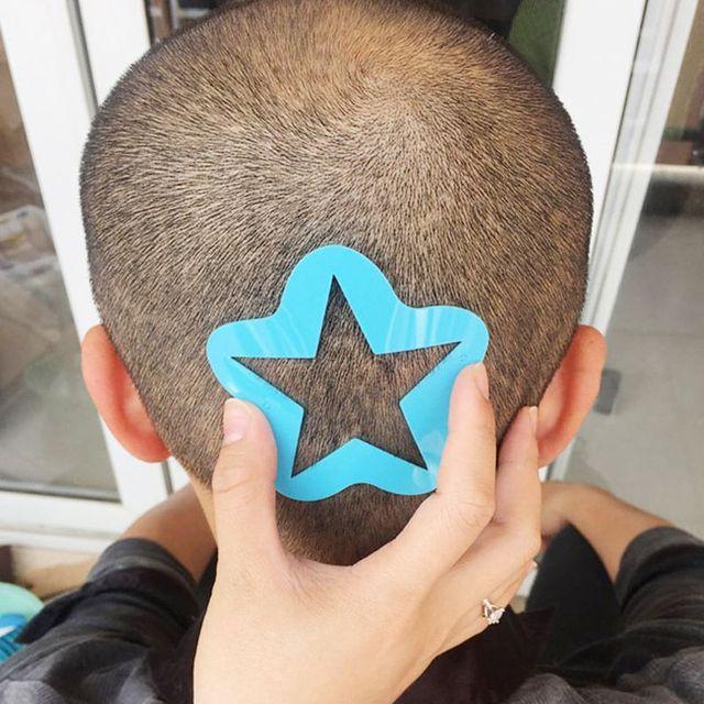 Peluquería estilismo plantilla para tatuajes cortador de plantillas salón peluquero DIY peluquería modelo