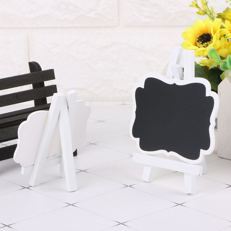 Mini Wooden Chalkboard Blackboard Frame Message Table Number Wedding Party Decor Home Garden