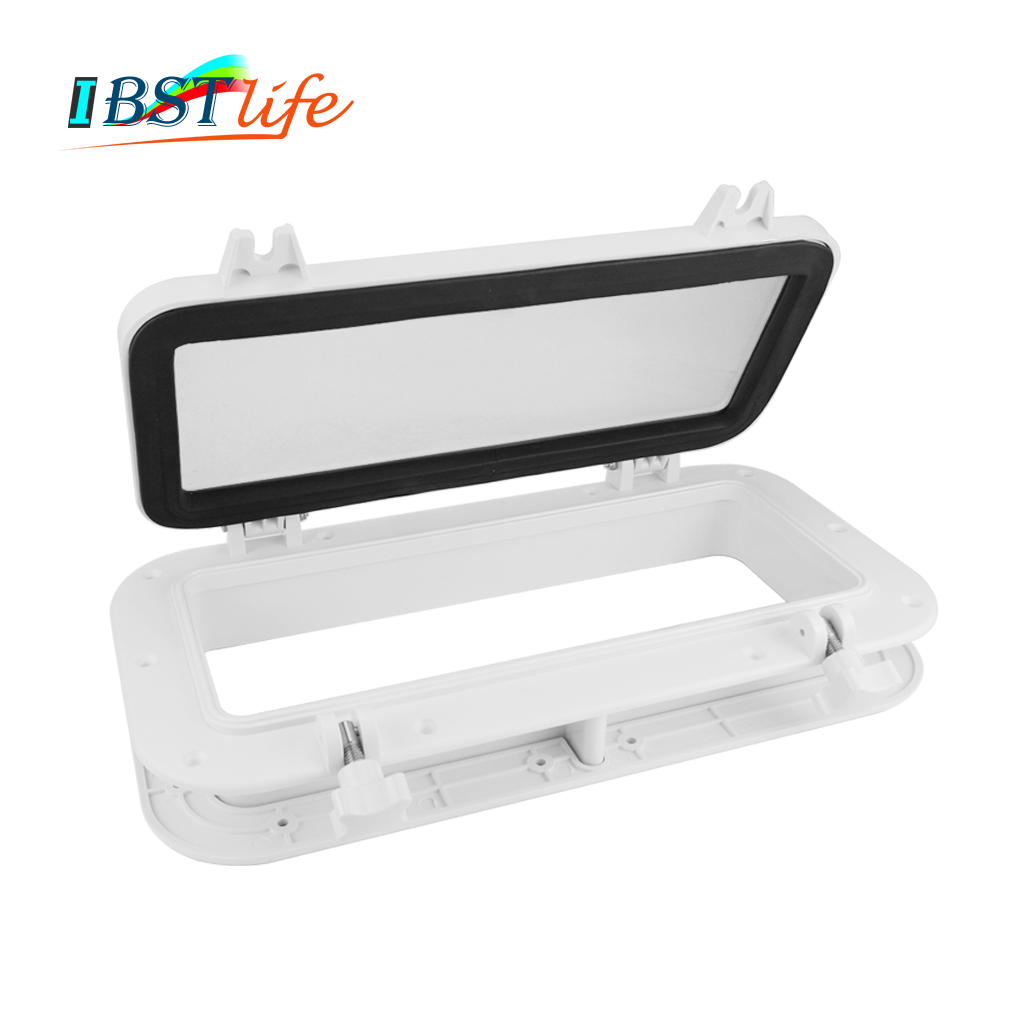 Marine <font><b>Boat</b></font> Yacht RV Porthole ABS Plastic Rectangular <font><b>Hatches</b></font> Port Lights Replacement Waterproof Windows Port Hole Portligt image