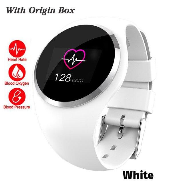 Bluetooth леди Смарт часы модные женские монитор сердечного ритма фитнес-трекер Smartwatch Приложение Поддержка для Android IOS pk Q8 Q9 - Цвет: white