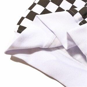 Image 4 - Мужская толстовка на молнии Bebovizi в стиле Харадзюку, черно белая клетчатая толстовка с капюшоном, уличная флисовая хипстерская толстовка с капюшоном