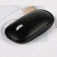 휴대용 2.4G 무선 마우스 + 블루투스 4.0 듀얼 모드 마우스 3 레벨 DPI USB 수신기와 PC 노트북 컴퓨터 오피스 마우스