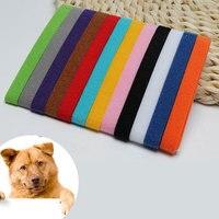 12pcs collari per cani colorato classico semplice cucciolo gattino identificazione collare gattino cucciolo ID collare fasce forniture per animali domestici