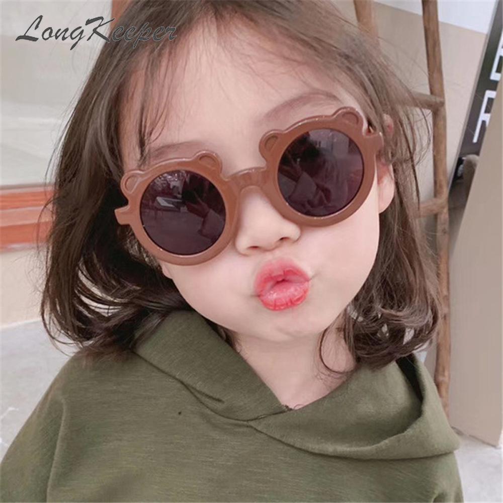 Cartoon Lovely Kids Sunglasses 2021 Bear Shape Frame Girls Children Sun Glasses Round Street Shot Baby Boy Eyewaer Cute Glasses