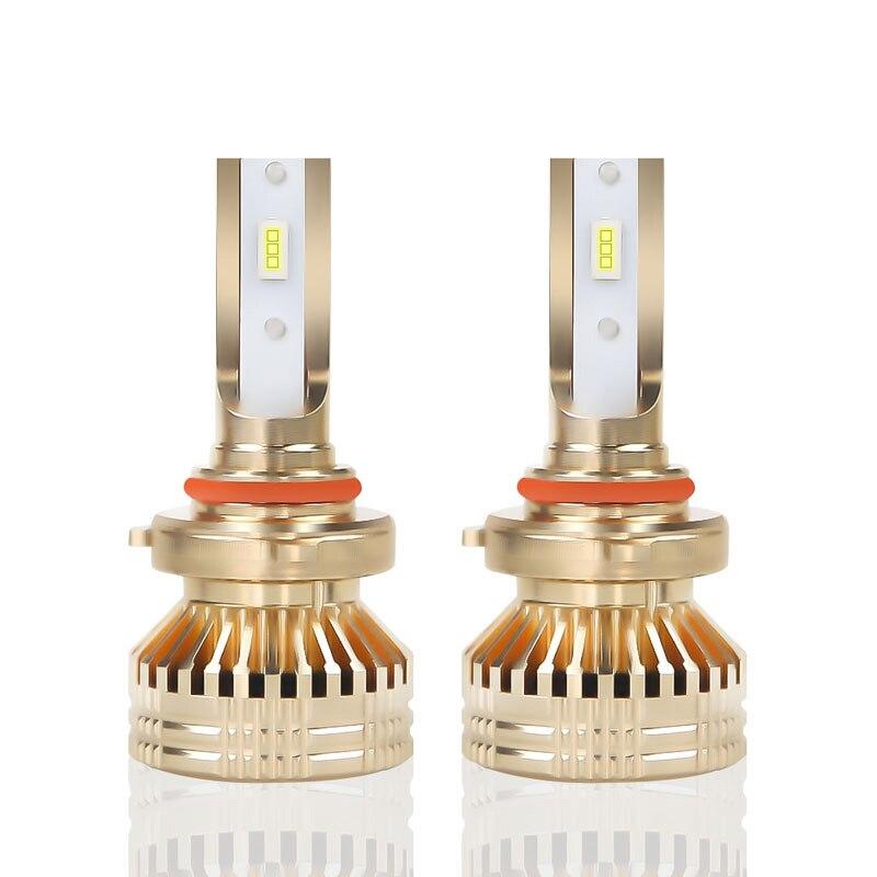 H4 1 Paire Or H1 H7 H11Car Ampoules antibrouillard 9005 9006 6000K 12000LM Voiture Auto ampoules de phares LED