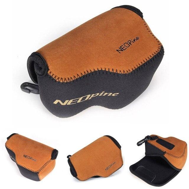 Portable Neoprene Soft Camera Case for Sony Alpha A5000 A5100 NEX 5T NEX 3N NEX 5R with 16 50mm Lens Digital Camera