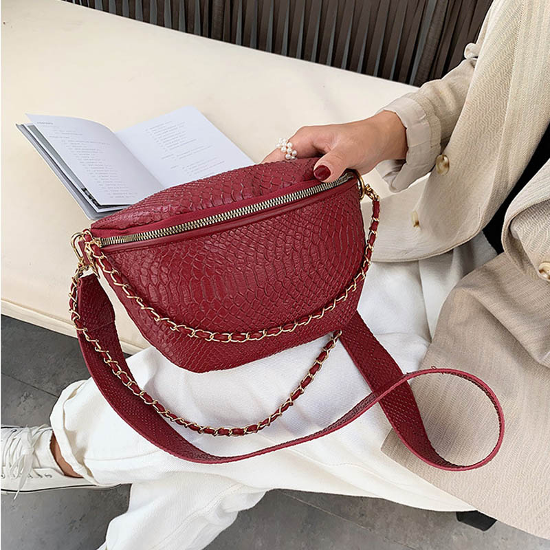 Luxury Handbag Women Bag 2019 Chain Shoulder Bag Leather Crossbody Chest Bags Women Bag Designer Trendy Casual Travel Pack