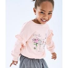 Kids Hoodies Sweatshirt Bebe Outerwear Fleeces Infant Girls Cotton Blouses Tops Flowers