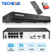 Techege 4CH 8CH Full HD 5MP 4MP PoE NVR All-in-one Registratore Video di Rete per IP di PoE telecamere P2P XMeye CCTV Sistema(China)