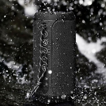 ABKT-Remax Portable Column Speaker Waterproof Bluetooth Speaker Outdoor Bicycle Subwoofer Speaker Call Hands-Free Support Tf Tws