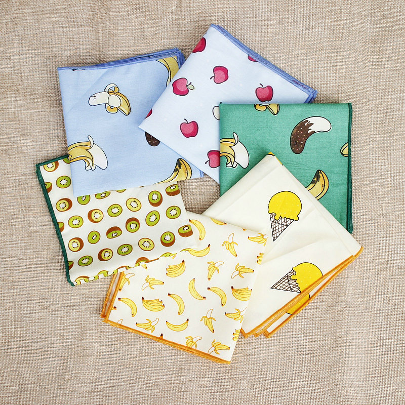 Fruits Suits Pocket Square For Men Women Cute Sweet Chest Towel Hanky Gentlemen Hankies Classic Men's Handkerchief Pocket Towel