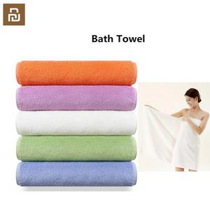 Image 1 - Youpin ZSH Bath Towel 100% Cotton Strong Water Absorption Polyegiene Antibacterial Babys Bathing Towels free ship