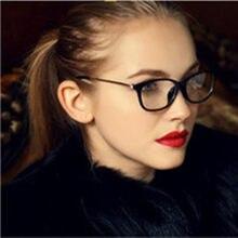 Moda do vintage feminino óculos de olho de gato ótico retro quadro marca simples óculos de olho feminino 2020 novo