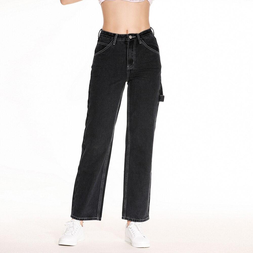 Женские джинсы-бойфренды Baagy, свободные джинсовые брюки с широкими штанинами, потертые длинные джинсы в стиле ретро, Осень-зима 2020