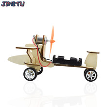 Gliding Aircraft Technology Science Toys DIY Experiment Electric Kit Warhawk Glider Kids Toys Stimulate Creativity Wooden Model