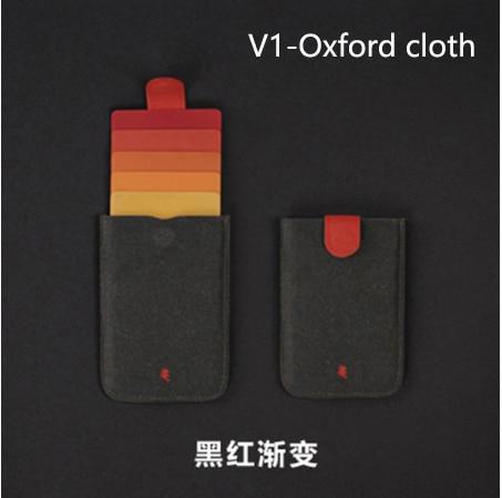 New DAX V2 Card Holder Mini Slim Portable Card Holders Pulled Design Men Wallet Gradient Color 5 Cards Money Short Women Purse