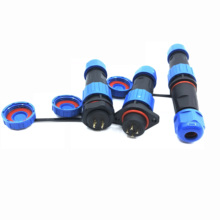 SP16 IP68 Waterproof Connector Male Plug & Female Socket 2 3 4 5 7 9 Pin SP16 Panel Mount Wire Cable Connector Aviation Plug