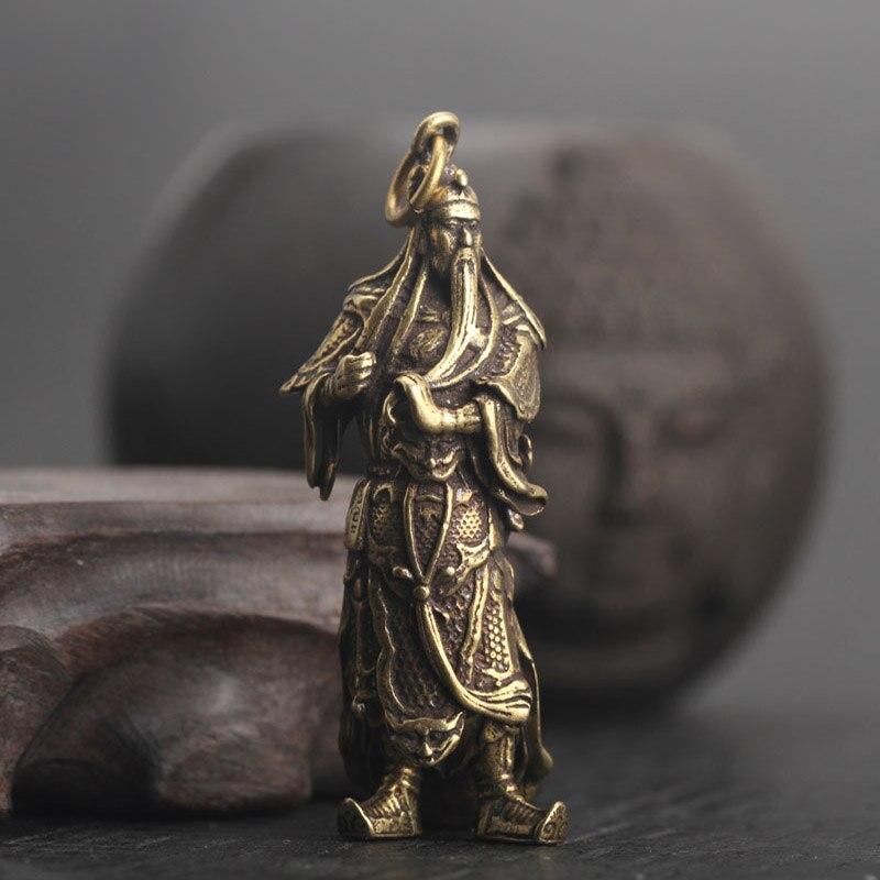Guan Gong Statue Keychain Pendants  (4)