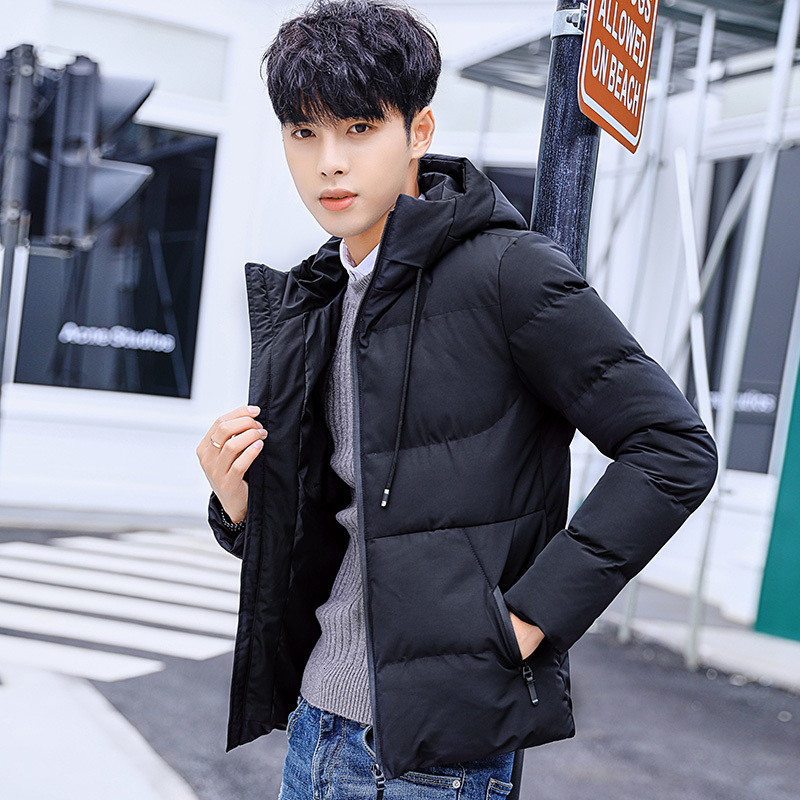 Winter Short Coat Men Warm Thick Fashion Parka Men Solid Color Casual Hooded Coat Man Wild Loose Cotton Jacket Male Clothes