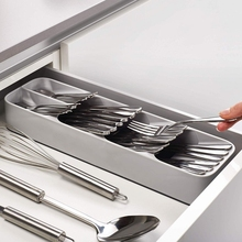 New Arrival Knife Fork Spoon Storage Box Tableware Drawer Cutlery Finishing Four Floors Simple Classification