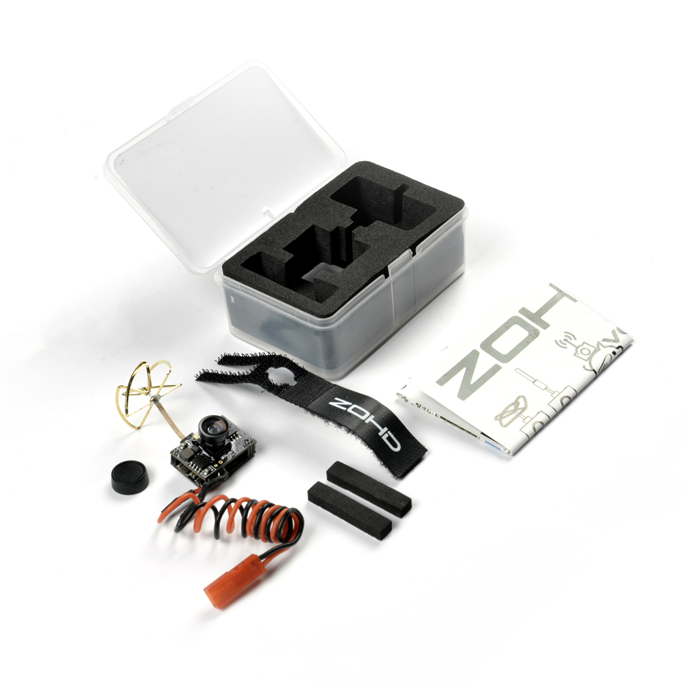 ZOHD VC400 5.8GHz 400mW AIO Camera All in One FPV Cam System for RC Planes Wings Drones include VTx OSD and Camera image