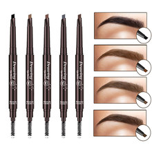 Kaş kalemi kozmetik makyaj tonu doğal uzun ömürlü boya dövme kaş su geçirmez siyah kahverengi göz kaş makyaj seti güzellik