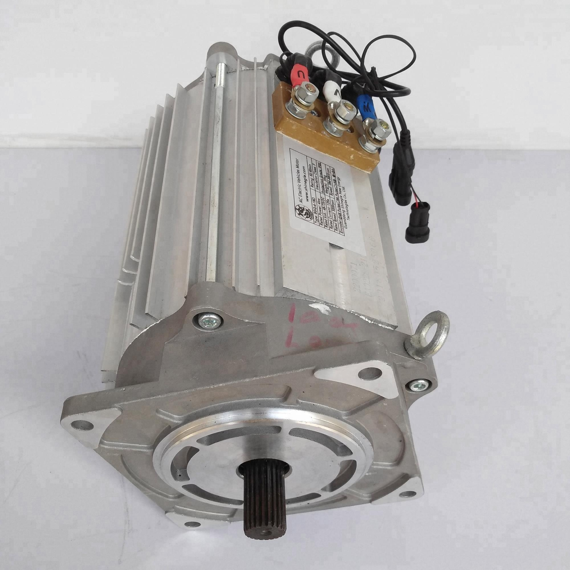 Induction Motor 7.5kw Tesla Motors Electric Car AC Motor And Controller Ev Conversion Kit For Car