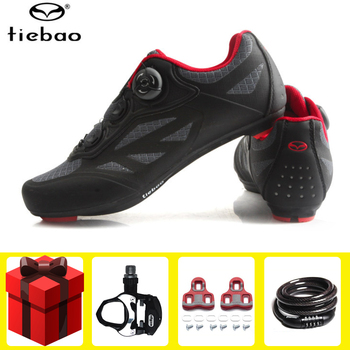 цена на Tiebao Road Cycling Shoes Men sapatilha ciclismo Self-Locking Bike Racing Breathable Athletic zapatillas ciclismo sneakers