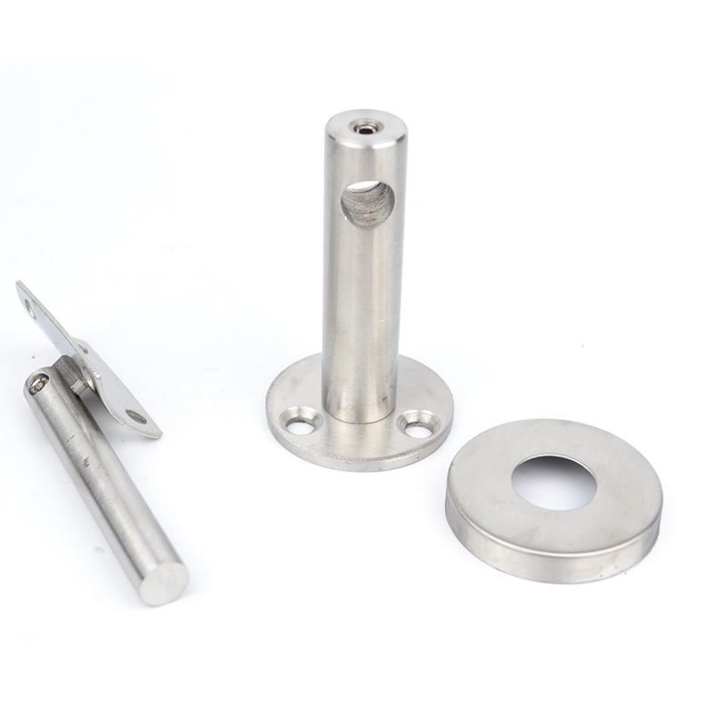 Image 3 - 2pcs Solid Stainless steel handrail Bracket/Stent/support,Rotatable curved panels,wall support,Round handrail,Stairs accessories-in Brackets from Home Improvement