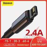 Baseus-Cable USB de carga rápida para iPhone, Cable de datos para iPhone 12 pro max 11 X XS 11 8 7 6 6s plus iPad