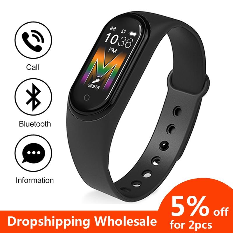M5 Smart Bracelet Band Watch Answer Call Best Fitness Bracelet Tracker Smartband Women Men Watch Wrist Band Smart Wristband