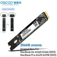OSCOO Hot New 256GB SSD Hard Disk for Apple Macbook Air A1465 A1466 2012 Year Mac Pro A1425 A1398 Internal HDD ON800B(China)