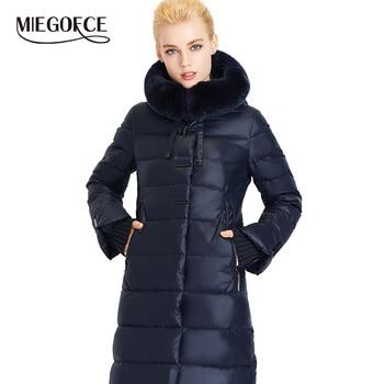 MIEGOFCE 2020 Women s Coat Jacket Medium Length Women Parka With a Rabbit Fur Winter
