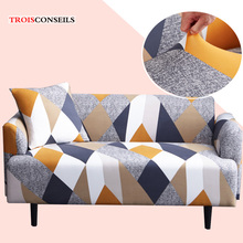 Stretch Slipcover Deep Sofa Printed Elastic Sofa Cover Couch Cover L Shape Armchair Cover 1/2/3 Seater Universal Furniture Cover