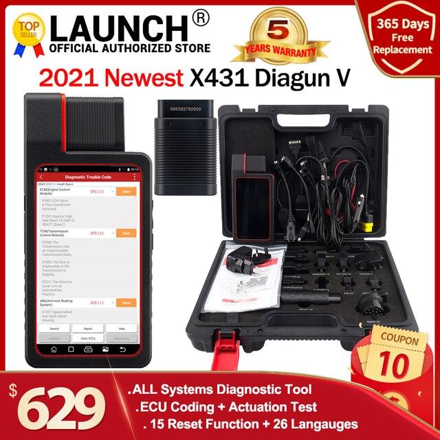 Launch X431 Diagun V Met 2 Jaar Gratis Online Update X 431 Diagun Iv Beter dan Diagun Iii Auto Obd2 Diagnostic tool