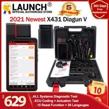 إطلاق X431 Diagun V مع 2 سنوات الانترنت مجانا تحديث X 431 Diagun iv أفضل من Diagun iii السيارات obd2 أداة تشخيص