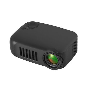 A2000 Casa Mini Pico Proiettore Led Supporto di Intrattenimento Hd Proiettore Evidenziare Obiettivo Ottico Interfaccia Multifunzione Nero