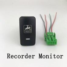 Датчик парковки с радаром, музыкальный светодиодный видеорегистратор для камеры, кнопка переключения противотуманных фар, провод для Toyota ...
