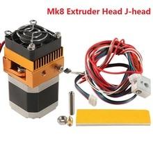 цена на 2019 New Mk8 Extruder Head J-head Hotend 1.75mm Filament 0.4mm Printer Nozzle Kit Extrusion 3d Printers Parts