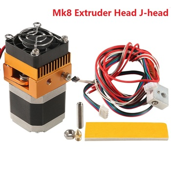 2019 New Mk8 Extruder Head J-head Hotend 1.75mm Filament 0.4mm Printer Nozzle Kit Extrusion 3d Printers Parts 3d printer parts cyclops 2 in 1 out 2 colors hotend 0 4 1 75mm 12v 24v fan bowden with titan bulldog extruder multi color nozzle