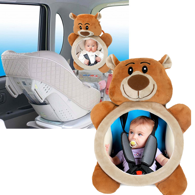 Safety Seat Rear View Mirror Baby Car Baby Mirror Reverse Installation Car Interior View Distorting Mirror It Can Rotate 360 Deg