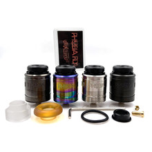 Phobia V2 RDA 24mm Atomizer 1ml Easy To Build Single Coil or Dual Coils 8.8mm Deep Juice Tank Fit 810 Resin Drip Tip Box Mod