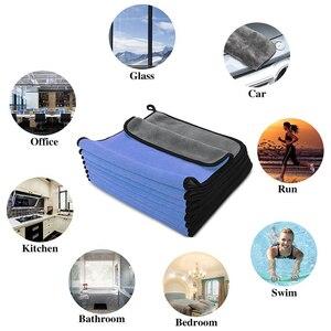 Image 5 - 30x30/40/60CM Car Wash Microfiber Towel Car Cleaning Drying Cloth Hemming Car Care Cloth Detailing Car Wash Blue Towel