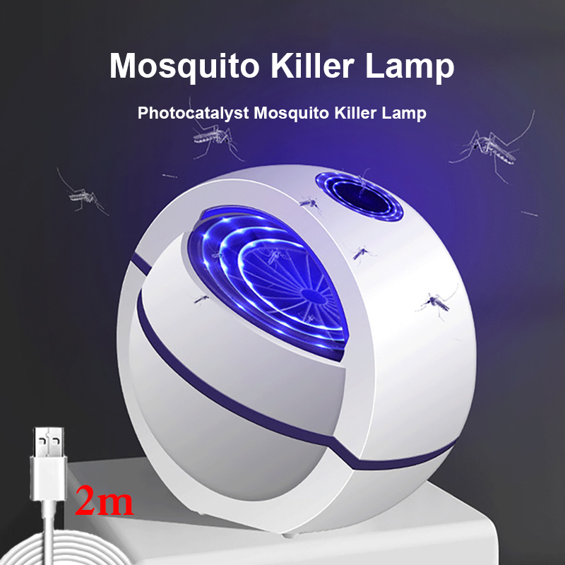2020 USB Powered Mosquito Killer Lamp 1m/2m Electric No Noise 360° Insect Killer Bug Zapper Mosquito Trap Light For Bedroom Home(China)
