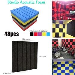 Espuma acústica de 48 canales, baldosas insonorizadas, Panel de absorción de sonido, Difusser de techo, tratamiento de aislamiento acústico, esponjas