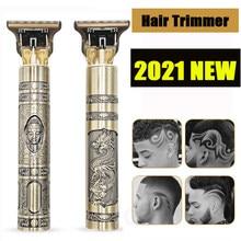 Cortadora de pelo profesional USB T9 para hombre, maquinilla eléctrica para cortar el pelo, Barbero, recortador de barba, 0mm, Máquina para cortar Cabello, 2021