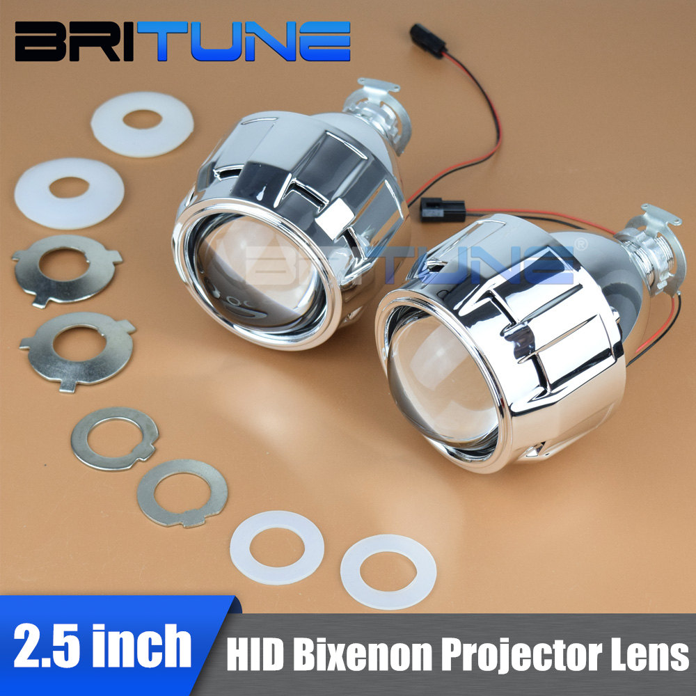 Bi-xenon Lens Headlight Lenses H4 H7 HID Projector 2.5 Mini WST For 9005 9006 Car Accessories Tuning Style Use H1 Xenon Bulbs