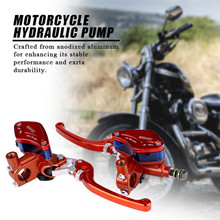 Buy 1Pair of 22mm CNC Motorcycle Hydraulic Brake Pump Clutch Master Cylinder Lever Adjustable Main Control Rod Sluice Pump directly from merchant!