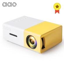 Aao YG300 Mini Projector Audio YG-300 Hdmi-Compatibel Usb Draagbare Ondersteuning 1080P Home Media Video Player Kid Spelen YG310 Gift
