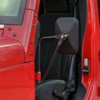 Hinge Side Mirrors Square Doorless Rear view Mirrors for Wrangler TJ JK JL G6KC
